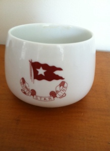 A replica of a third-class teacup.