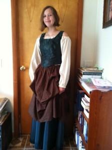 Bridget in costume
